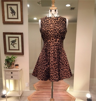 skater dress animal print leapard print animal print short dress