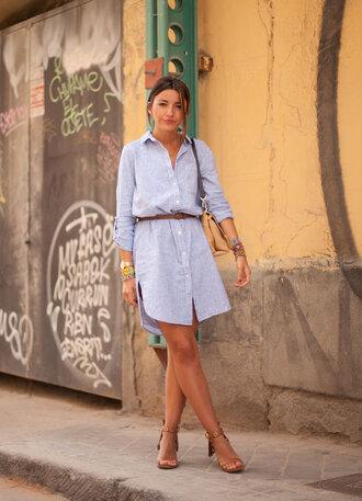 lovely pepa blogger dress shirt shoes jewels bag