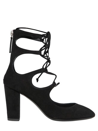 suede pumps pumps lace suede black shoes