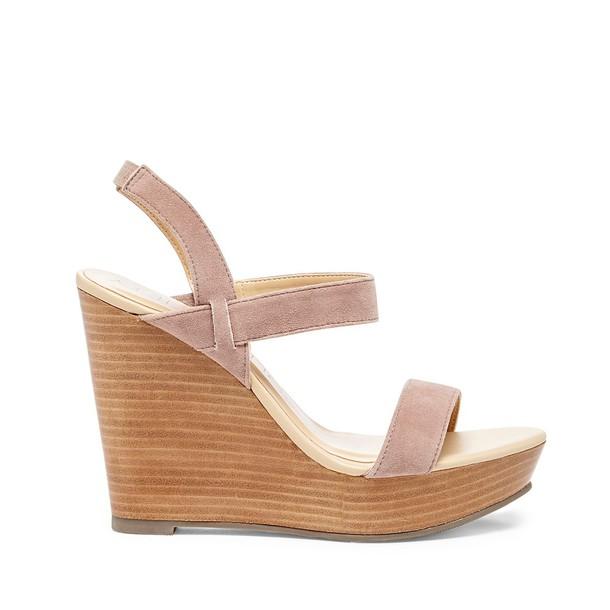 7bad0c8671 Sole Society Penelope Wedge Sandal - Auburn Taupe-11 - Wheretoget