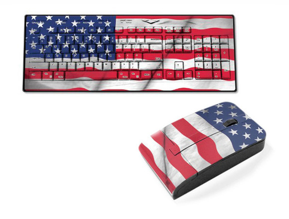 american flag usa flag usa earphones keyboard pc