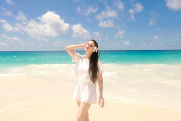 the cherry blossom girl blogger dress top shorts