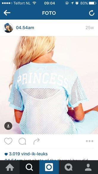 shirt blue princess princess shirt