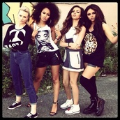 pants,little mix,jade thirlwall,leigh-anne pinnock,jesy nelson,perrie edwards,dress,tank top