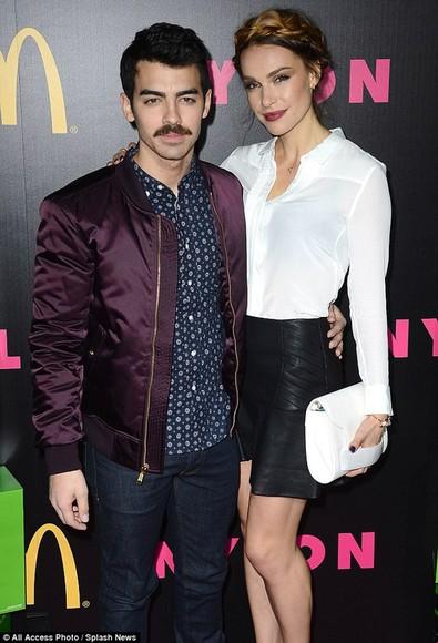 moustache jacket varsity jacket varsity jackets celebrity style jonas brothers \ joe jonas blanda cool