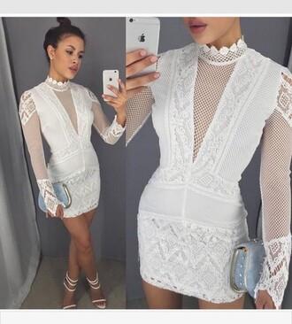 white white dress boho dress party dress shoes lace dress lace