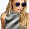 Elly coloured round frame sunglasses