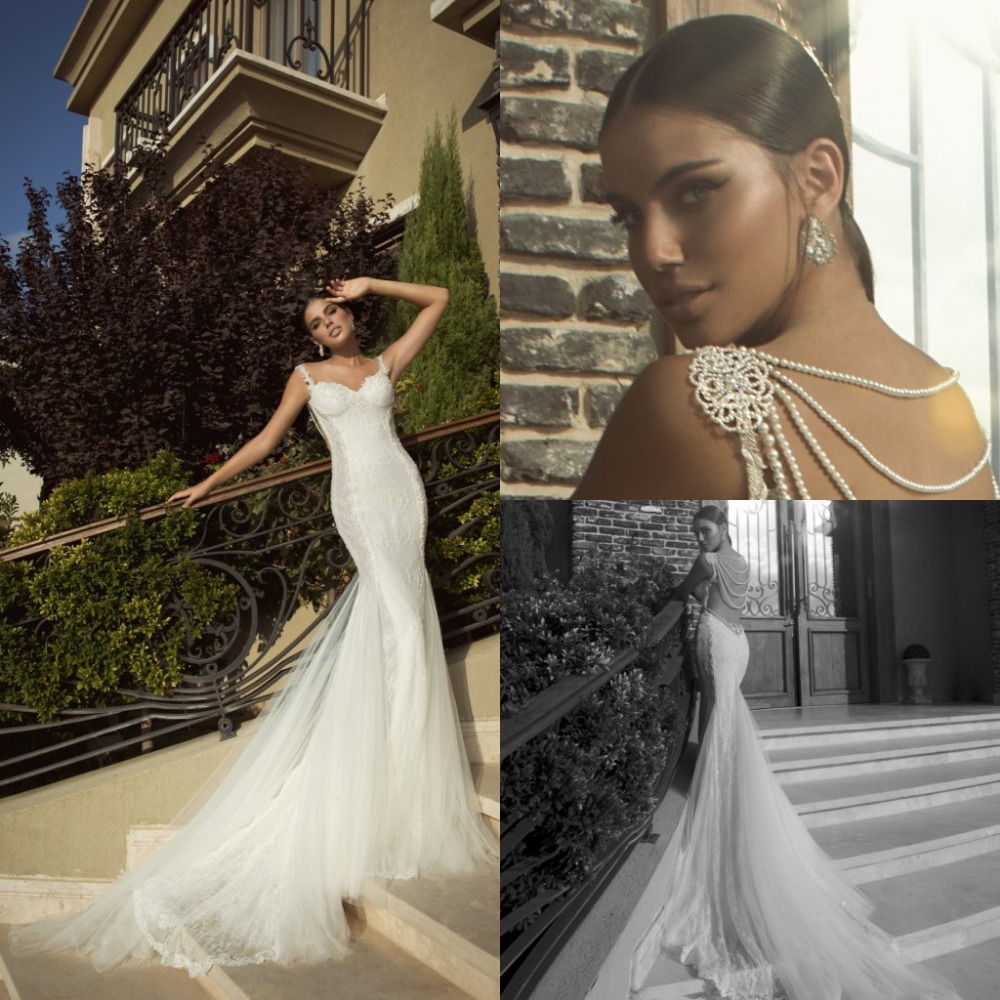 2014 lace mermaid backless wedding dresses galia lahav for Aliexpress mermaid wedding dresses