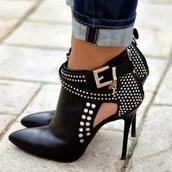 shoes,heels,black,leather,jewelry,studs,cute,vintage,grunge.boho,bohemian,summer,tumblr,choachella,girl,vogue,chanel,high heels,edges,wedges