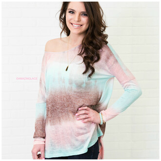 top mint amazinglace amazinglace.com shirt long sleeves dip dyed