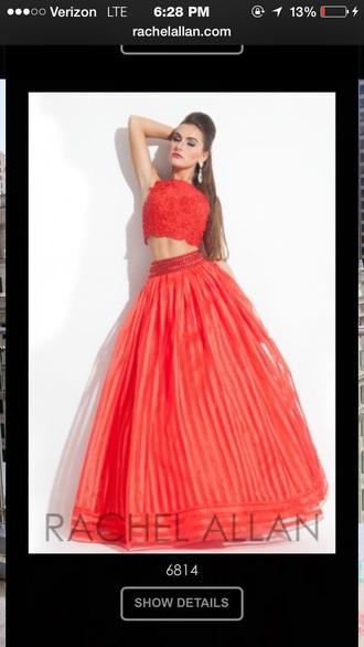 dress rachel allan red dress two piece dress set