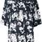 Kenzo floral print top, women's, size: 38, black, silk