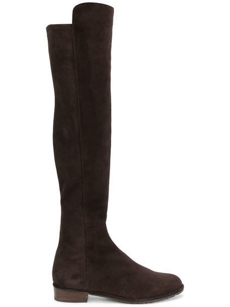 STUART WEITZMAN high women knee high knee high boots leather suede brown shoes