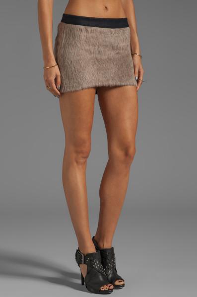 Roseanna Deyn Juno Faux Fur Skirt in Taupe in Beige (Ecorre) | Lyst