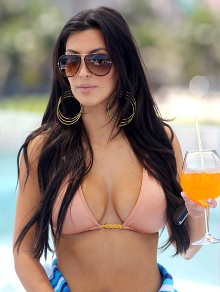 kim kardashian sexy gorgeous keeping up with the kardashians sunglasses swimwear bikini