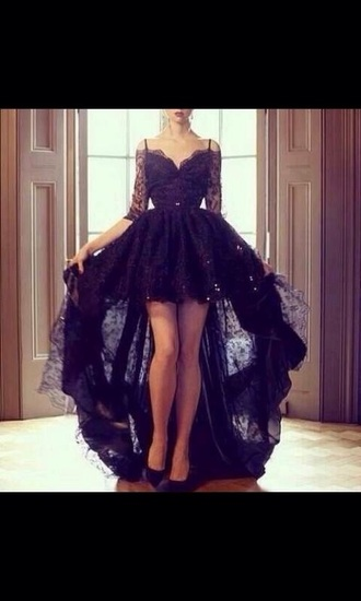 black black dress short dress long dress sparkly dress prom little black dress prom dress