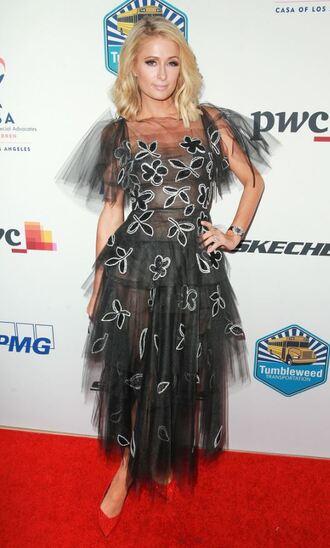dress gown prom dress red carpet dress paris hilton tulle dress