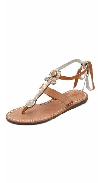 beaded sandals silver brown shoes