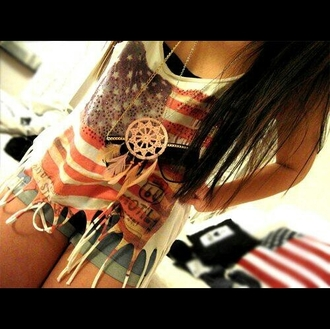 t-shirt jewels american flag dreamcatcher dreamcatcher necklace