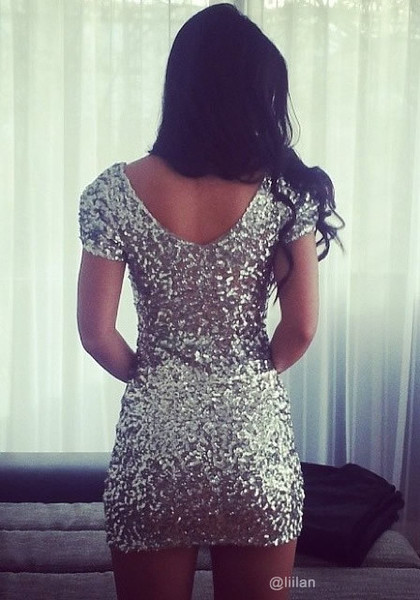 Silver sequined