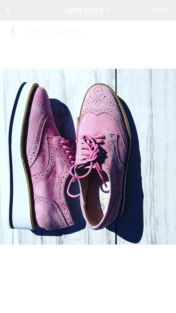 shoes pink brogue shoes derbies flats pink shoes