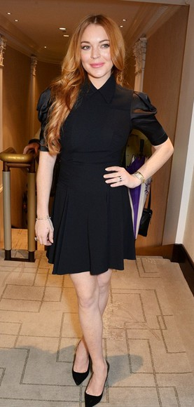 shoes lindsay lohan dress little black dress