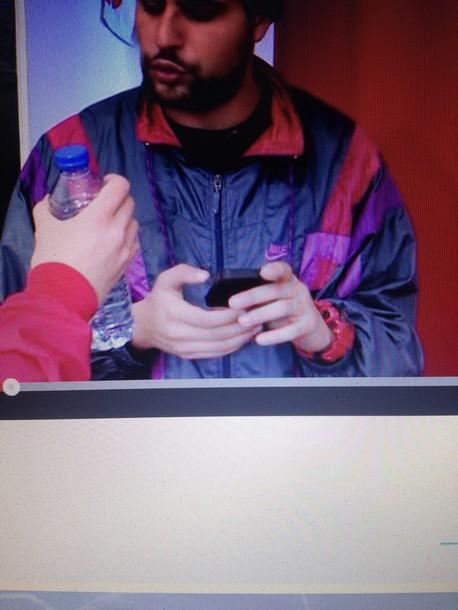 jacket nike colorful bomber jacket pink green grey style fashion anorak