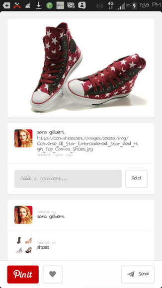 stars shoes converse high tops chuck taylor all stars red