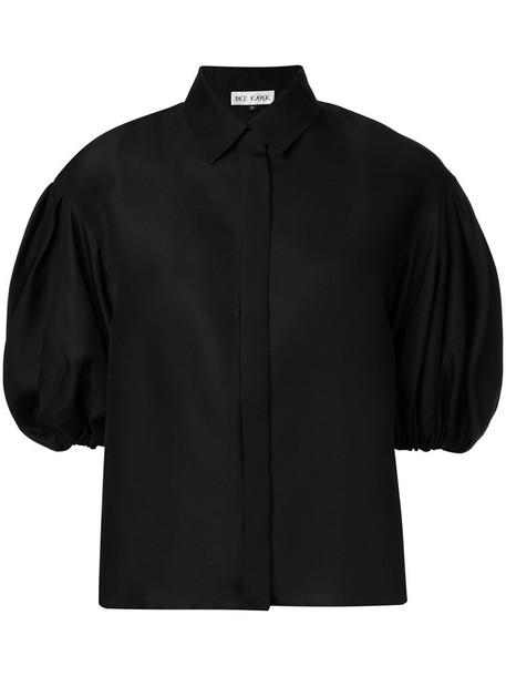 DICE KAYEK blouse women black silk top