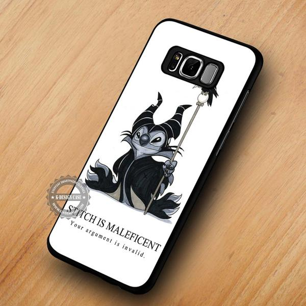 Funny Cartoon Quote Stitch Maleficent - Samsung Galaxy S8 S7 S6 Note 8 Cases & Covers #SamsungS8