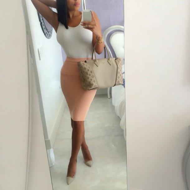bag louis vuitton bag pencil skirt skirt top