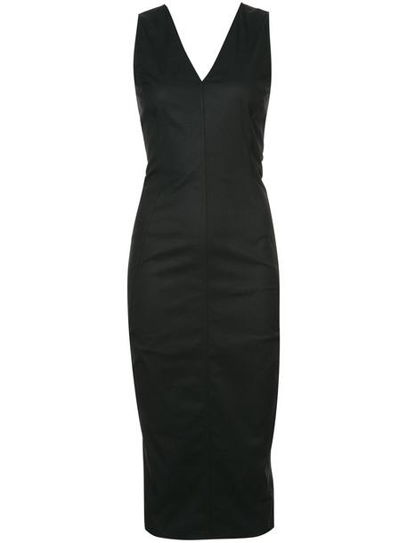 Rick Owens dress women spandex cotton black