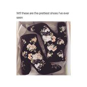 shoes,booties,high heels,floral,black,embroidered