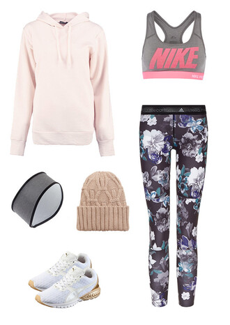 sweater pink hoodie headband beanie sneakers white leggings running floral sports bra nike adidas pink sweater hoodie