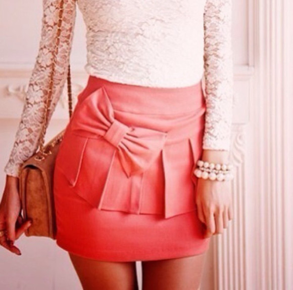 skirt pink bow frills pink skirt