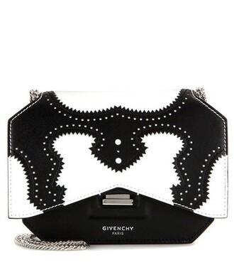 bow bag shoulder bag leather black