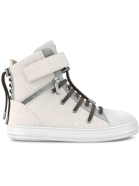 SWEAR hair women sneakers leather white suede shoes