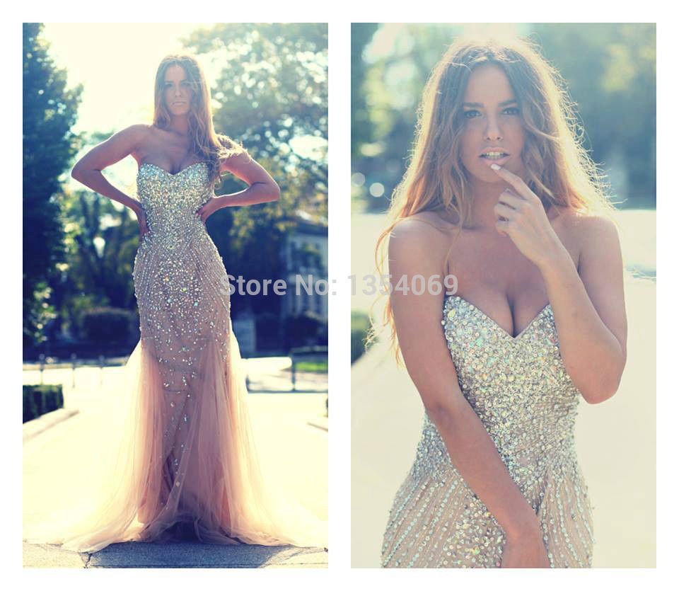 Sweetheart Floor Length Mermaid Evening Dresses Sexy Waist Beaded ...