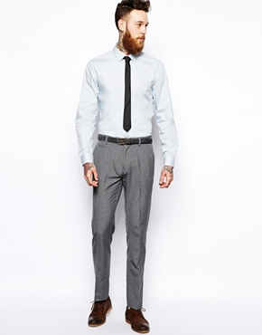 ASOS | ASOS Smart Shirt In Long Sleeve In Cotton at ASOS