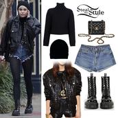 jacket,leather jacket,miley cyrus