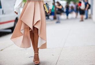 skirt peach summer skirt chiffon peach summer skirt