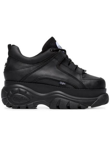 Buffalo - 1339-14 platform sneakers - women - Leather/Polyester/rubber - 36, Black, Leather/Polyester/rubber