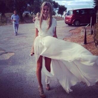prom dress prom white dress