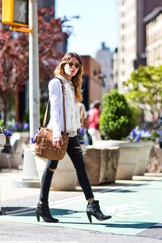 the marcy stop jacket tank top jeans bag sunglasses jewels shoes