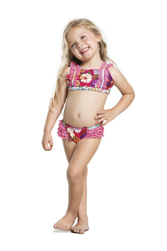 swimwear agua bendita kids fashion floral lace bikini