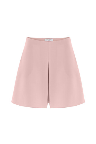 shorts silk wool rose
