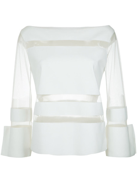Gloria Coelho top sheer women spandex