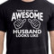 Wedding gift for him - new husband gifts - this is what an awesome husband looks like t shirt valentines day gift
