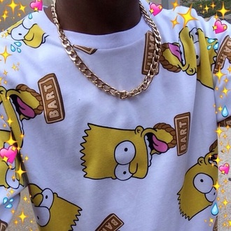 sweater the simpsons bart simpson urban hipster white sweater cartoon