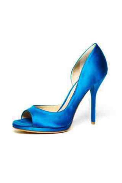 shoes blue high heels